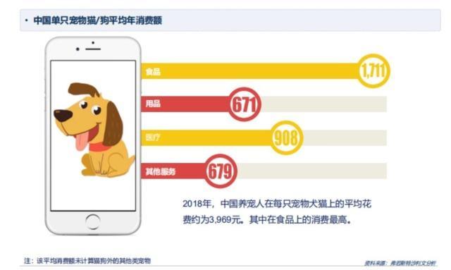 中国宠物市场规模达1722亿元 宠物主年均养宠花费3969元